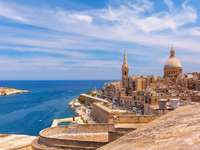 Pohled na město Valetta na Maltě - Pohled na město Valetta na Maltě