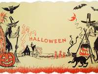 Napperon Halloween - Ceci est une photo d'un napperon vintage Halloween