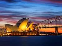Sydney Opera House,  Harbour Bridge - m..........................