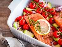 Mangia pesce - Mangia salmone rosa e limone