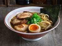 Shoyu ramen - Typical soup from Japan.