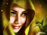kobieta z koliberkiem - m.................................