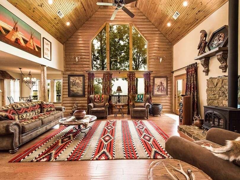 sala de estar de madera