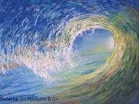 Schönes Meer - Das Meer ist sehr schön, es ist sehr schön es anzusehen und wie viele Wellen sie haben! und seine
