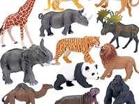 Jucării pentru animale - Rezolva puzzle-ul despre animale