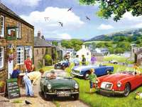 << In England >> - Landscape puzzle.