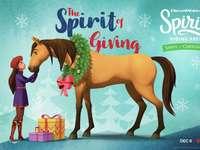 Espíritu y día de Navidad afortunado