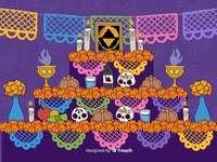Altaar van de doden - Mexicaans dodenaltaar
