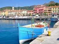Porto Azzurro on Elba Island Italy