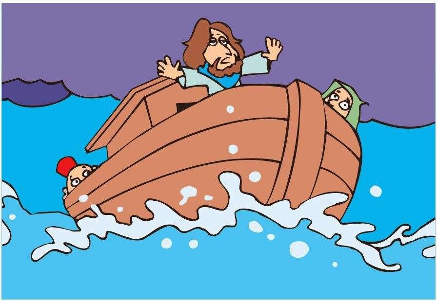 Jézus megnyugtatja a vihart