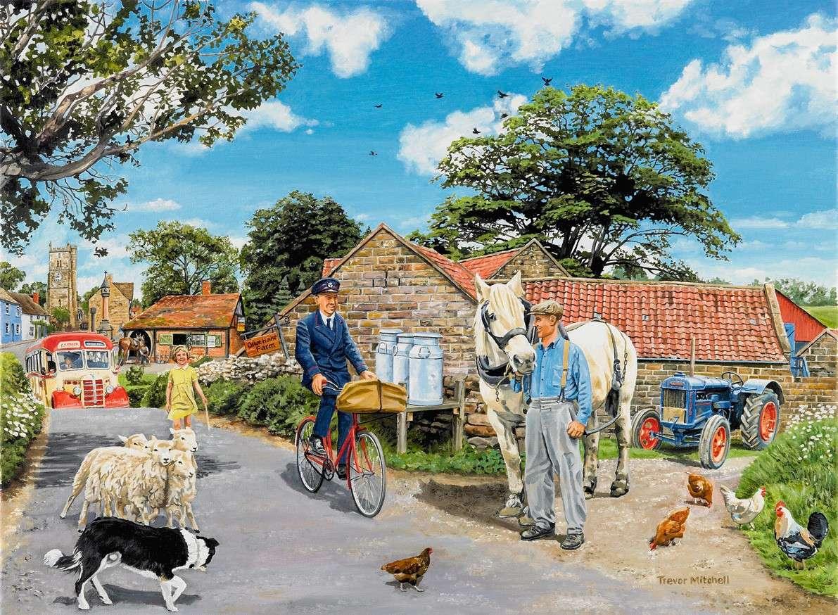 Op het Engelse platteland - Landschap puzzel (12×9)