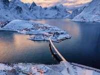 Inverno na Noruega.