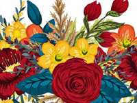 colorful flowers - art of flower arranging