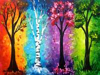 Árboles Four Seasons Pintura - Árboles Four Seasons Pintura