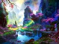 Colorido paisaje de cuento de hadas - Colorido paisaje de cuento de hadas