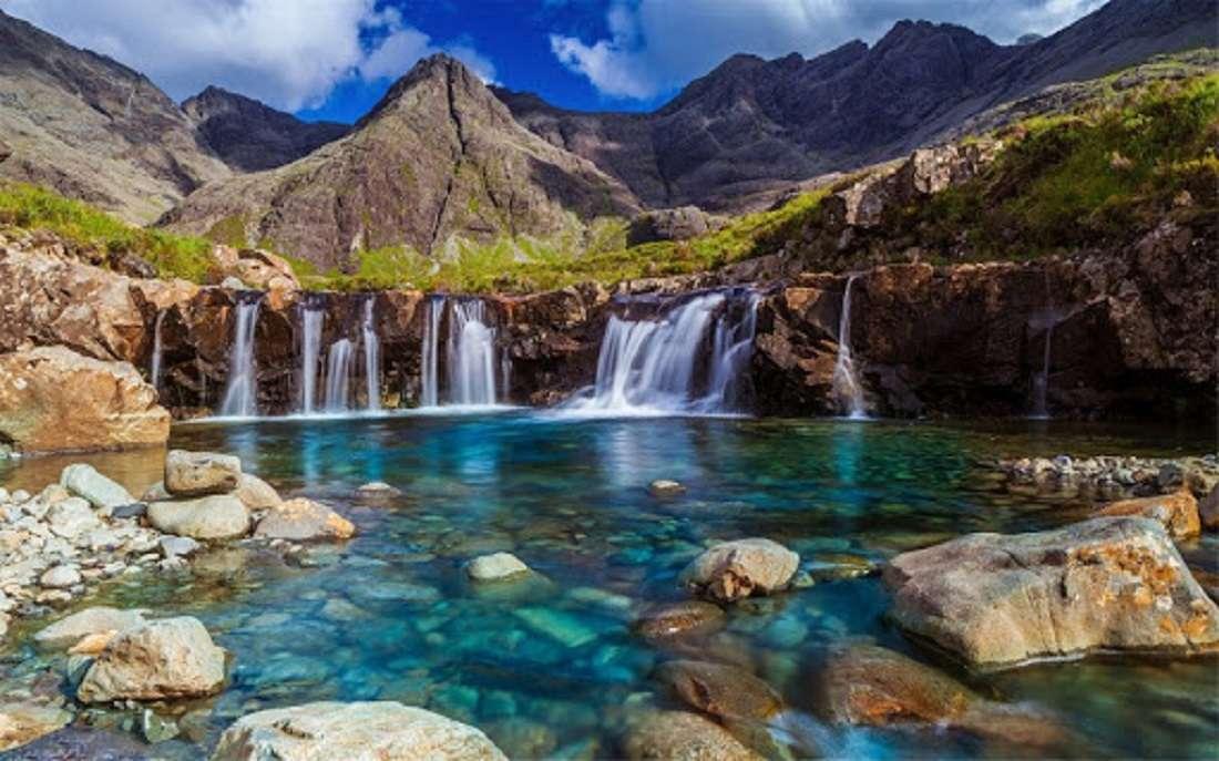 изглед - Малък планински водопад (9×6)