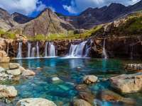 view - Small mountain water waterfall