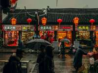 marcher à Shanghai