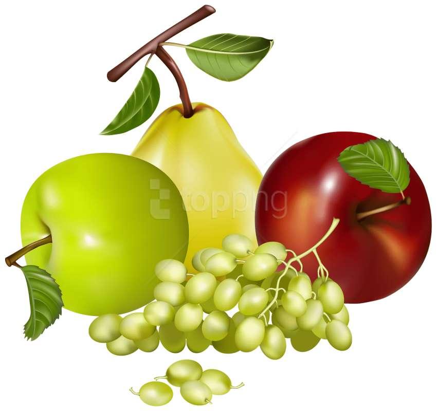 Vruchten appeldruiven en peer - Er zijn fruit, appels, druiven en peren (2×2)