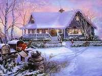 Ház a téli táj