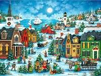 Град по Коледа край морето