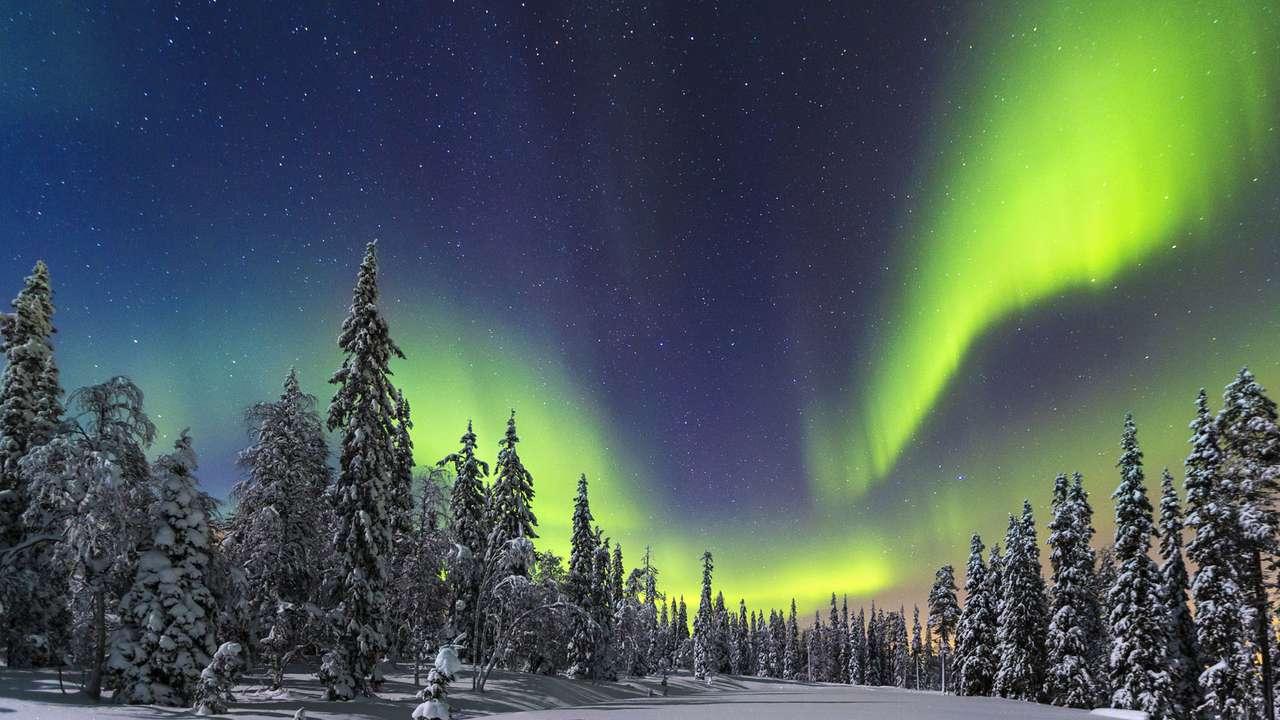 Polární záře ve Finsku - Polární záře ve Finsku v severní Evropě (8×5)