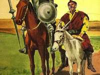 Don Quijote of La Mancha. - Puzzle of this literary work.