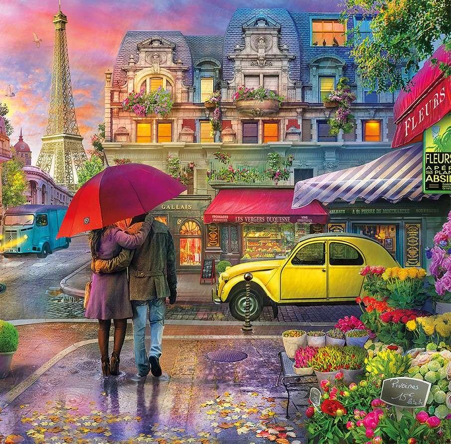 Im Regen spazieren gehen - Gehen Sie im Regen, Straße (10×10)