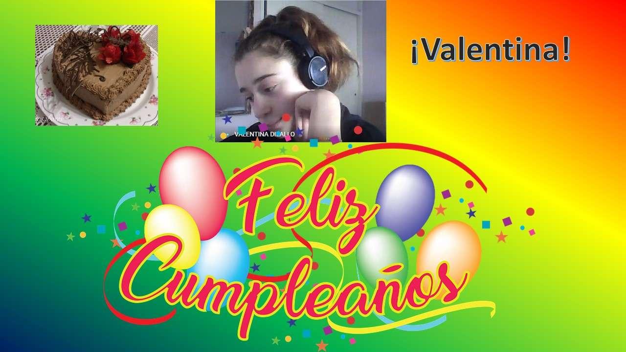 Cumple Valentina - Es el cumple de Valentina numero 12 (8×5)
