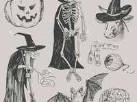 Halloween - Moje halloweenowe puzzle.