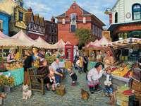 Straßenmarkt - Straßenmarkt, Stadt, Menschen, Lebensmittel