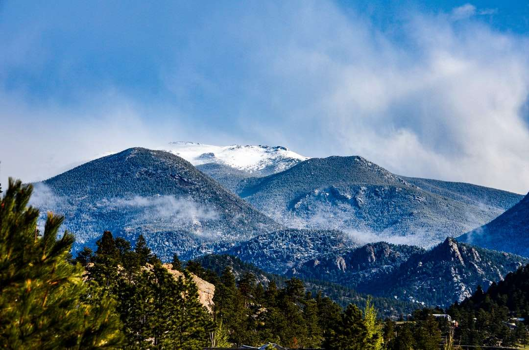 A Room with a View - green trees near snow covered mountain during daytime. Estes Park, CO, USA (3×2)