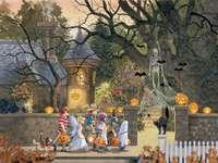 Halloween. - Halloween. Puzzle.