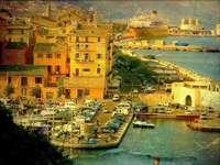 Città portuale di Bastia in Corsica