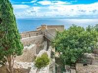 Bonifacio hamnstad på Korsika