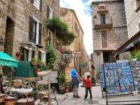 Sartene city in Corsica