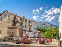 Vivario Stadt auf Korsika