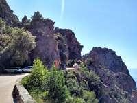 Unterwegs auf der Küstenstrasse von Korsika - Unterwegs auf der Küstenstrasse von Korsika