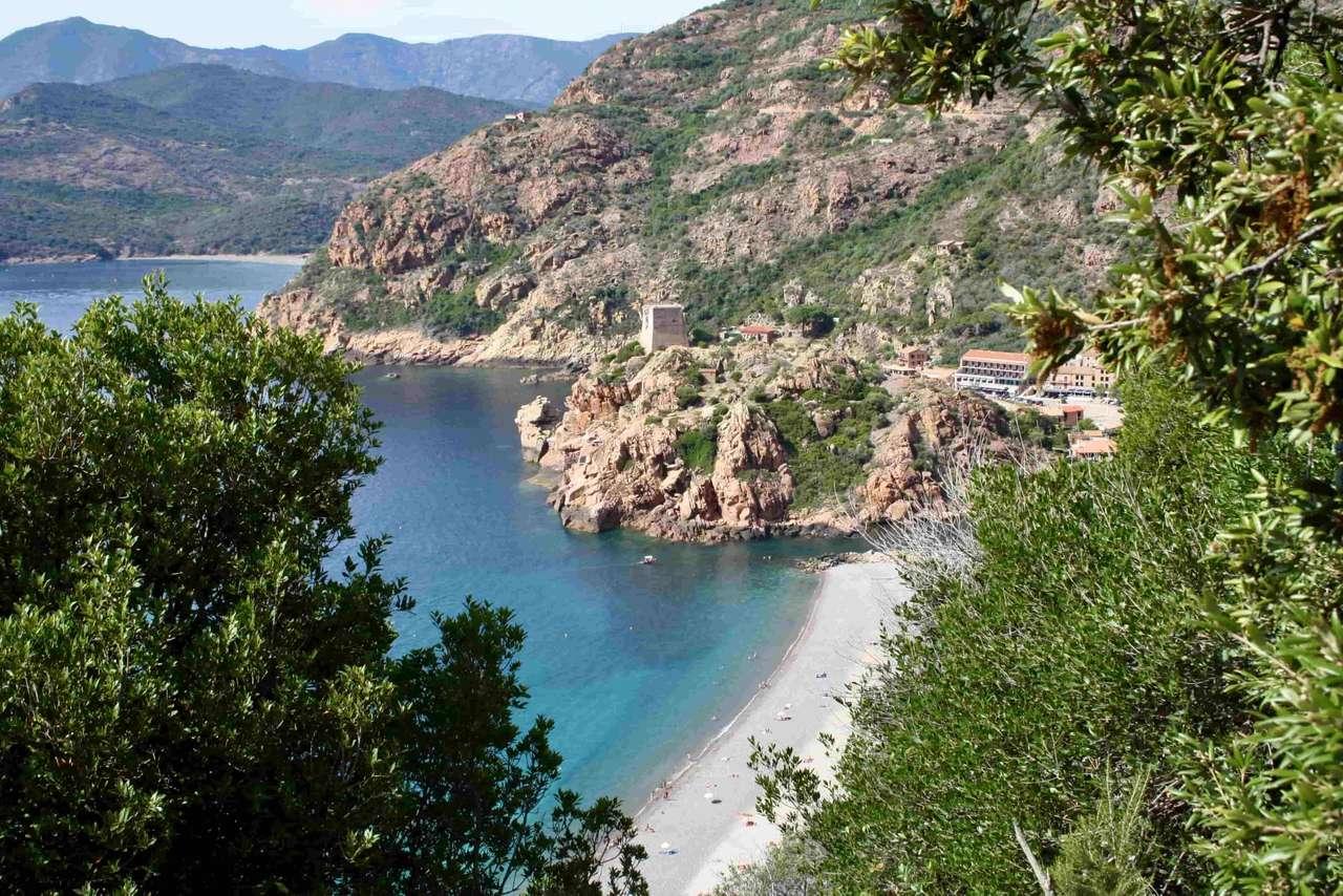 Paisaje costero de Córcega