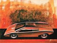 1971 Lamborghini Countach LP500-koncept - Detta är ett foto av ett fordon