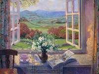 Målningsvy från fönstret