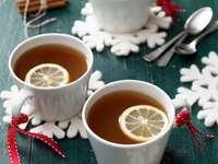 thé au citron et à la vanille