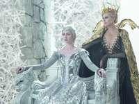 κυνηγός παραμυθιού και βασίλισσα πάγου