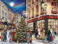 Magia navideña - Ciudad, invierno, gente, Navidad