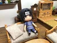 Itachi in his sofa is resting