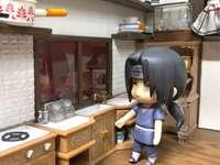 Itachi se chystá připravit kuchyň