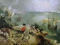 Landskap med Icarus fall