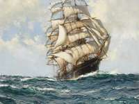 The Great Tea Clipper - This Is A Photo Of A Painting By Montaque Dawson.