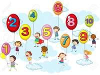 Balões de números
