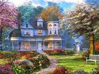 ein Herrenhaus auf dem Land